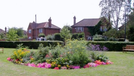 Main Flowerbed in Summer